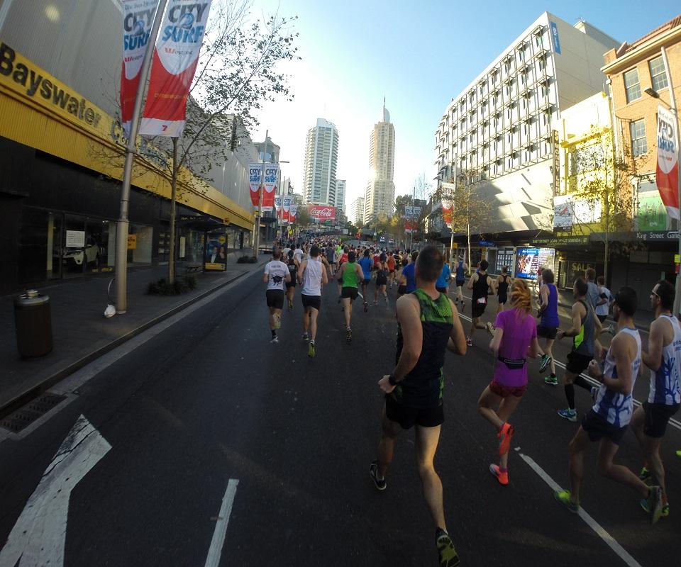 シドニーの街をランニング