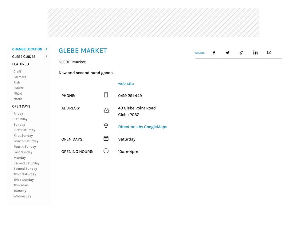 シドニーのマーケットの探しかた