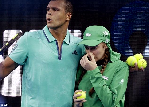 テニスプレーヤーの神対応