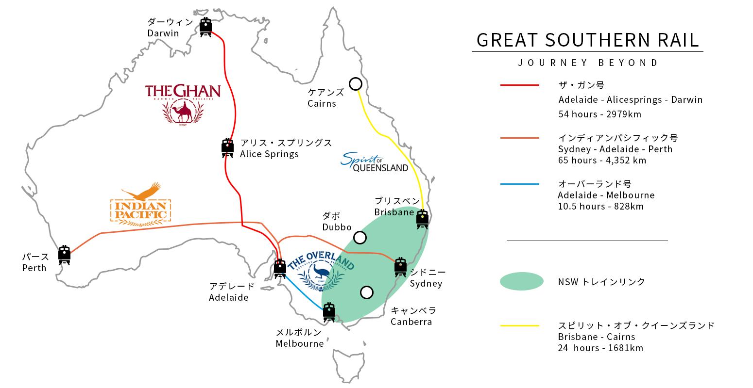 オーストラリアを鉄道で横断・縦断