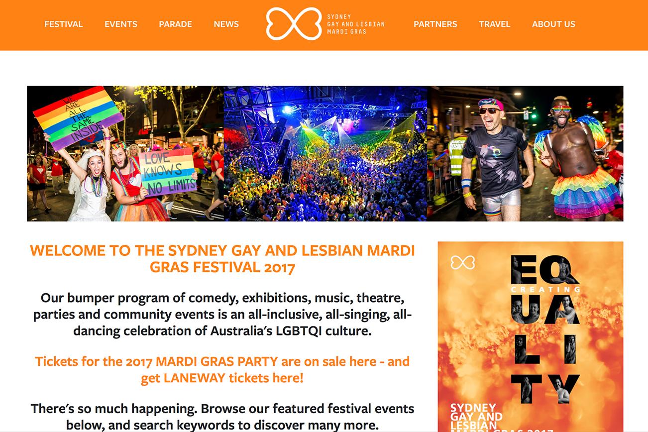 マルディグラ ゲイ レズビアン イベント