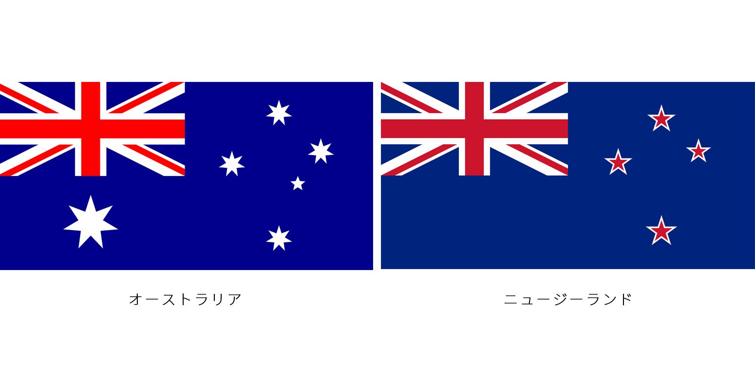 オーストラリア ニュージーランド 国旗 比較