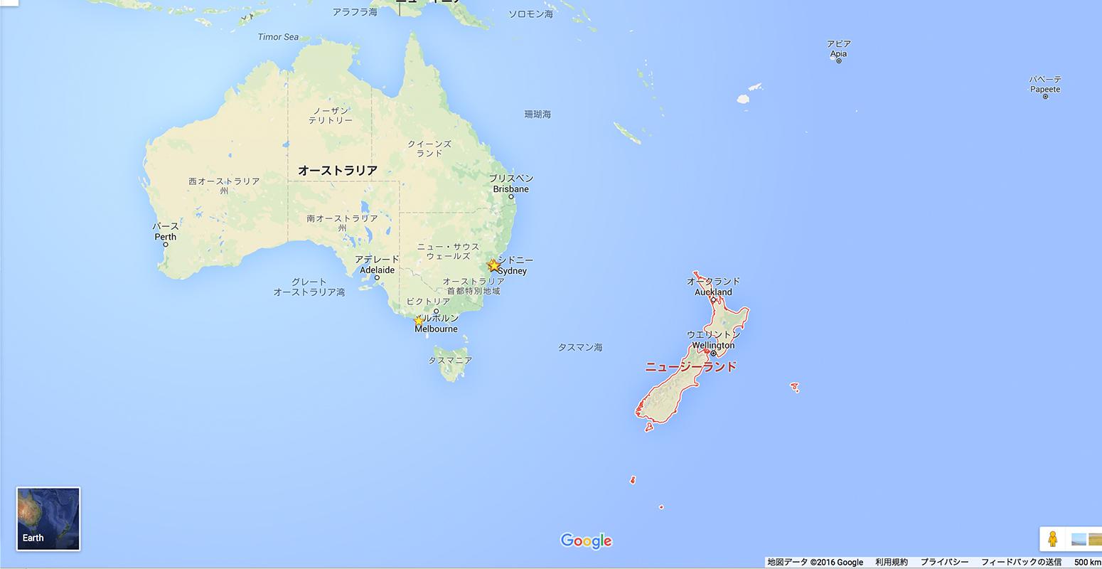 ニュージーランド 地図