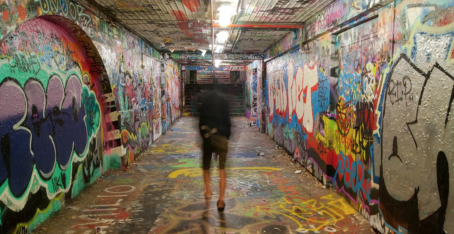 シドニー大学 グラフィティ トンネル