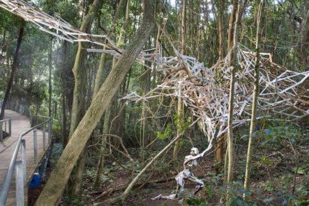 ブルーマウンテンの森の中に広がる芸術の世界