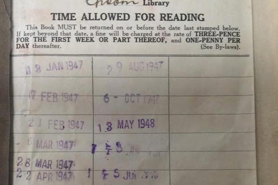67年後に返却された本にかかる延滞金は?