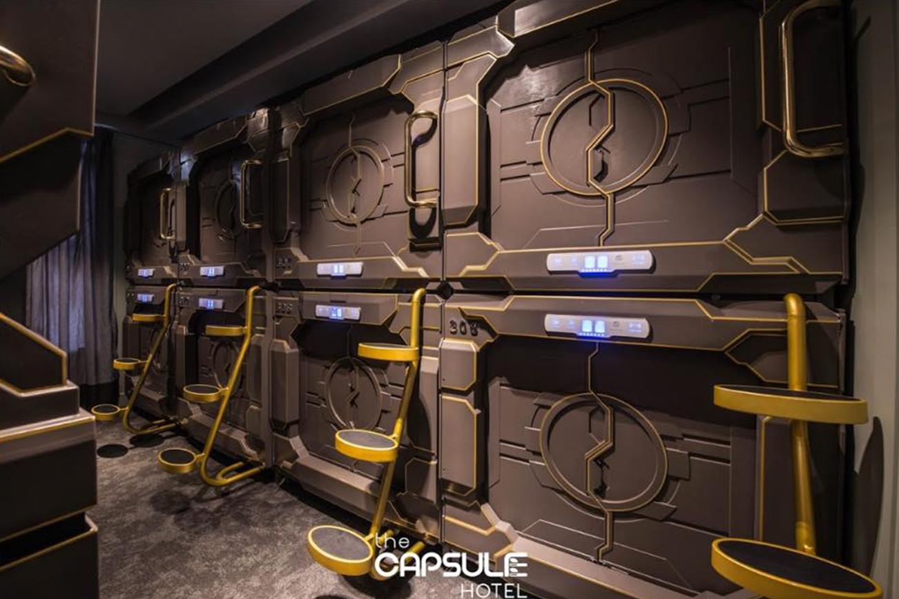 シドニーのカプセルホテル、部屋