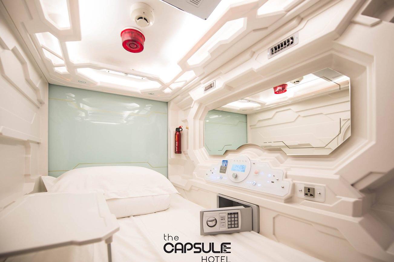 シドニーのカプセルホテル、部屋内装