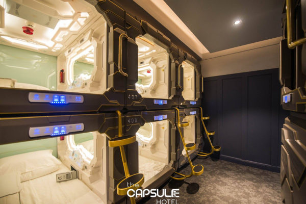 シドニーのカプセルホテル、内装