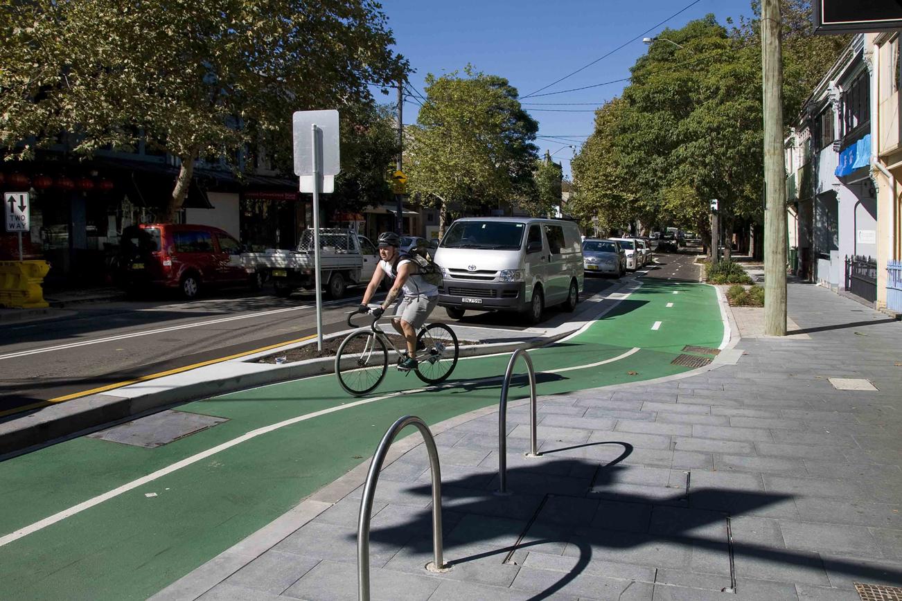 シドニーの自転車の置き場所
