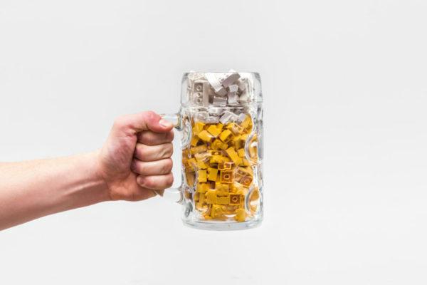 レゴブロックのバー