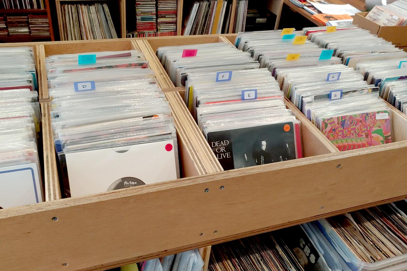 メルボルンのレコードショップ