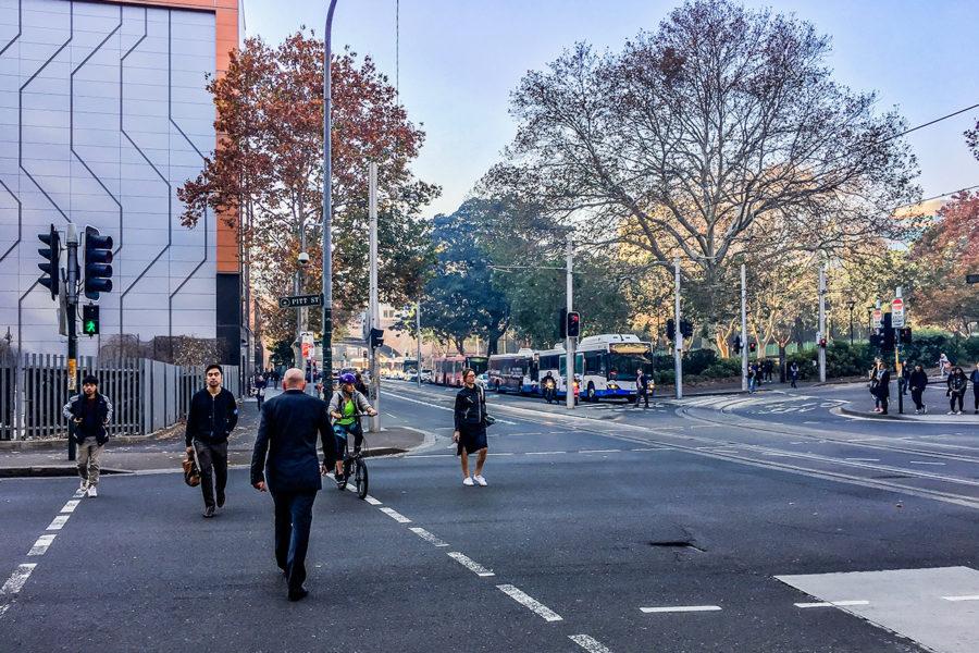 オーストラリアの横断歩道の渡り方